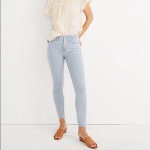 NWT Madewell High Rise Skinny Crop Striped Jeans